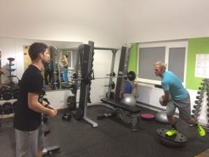 Matt beim Training